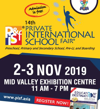 14th Private & International School Fair (PISF) KL Nov 2019